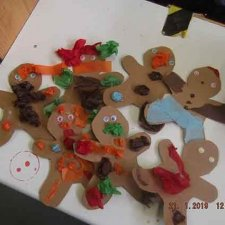 The Gingerbread Man – Sticking & painting
