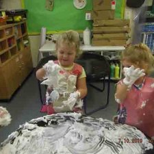 Exploring shaving foam