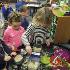 Exploring, weighing & measuring oats – Goldilocks and the 3 Bears