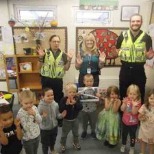 We entered and won the Stroud Police Rainbow Competition